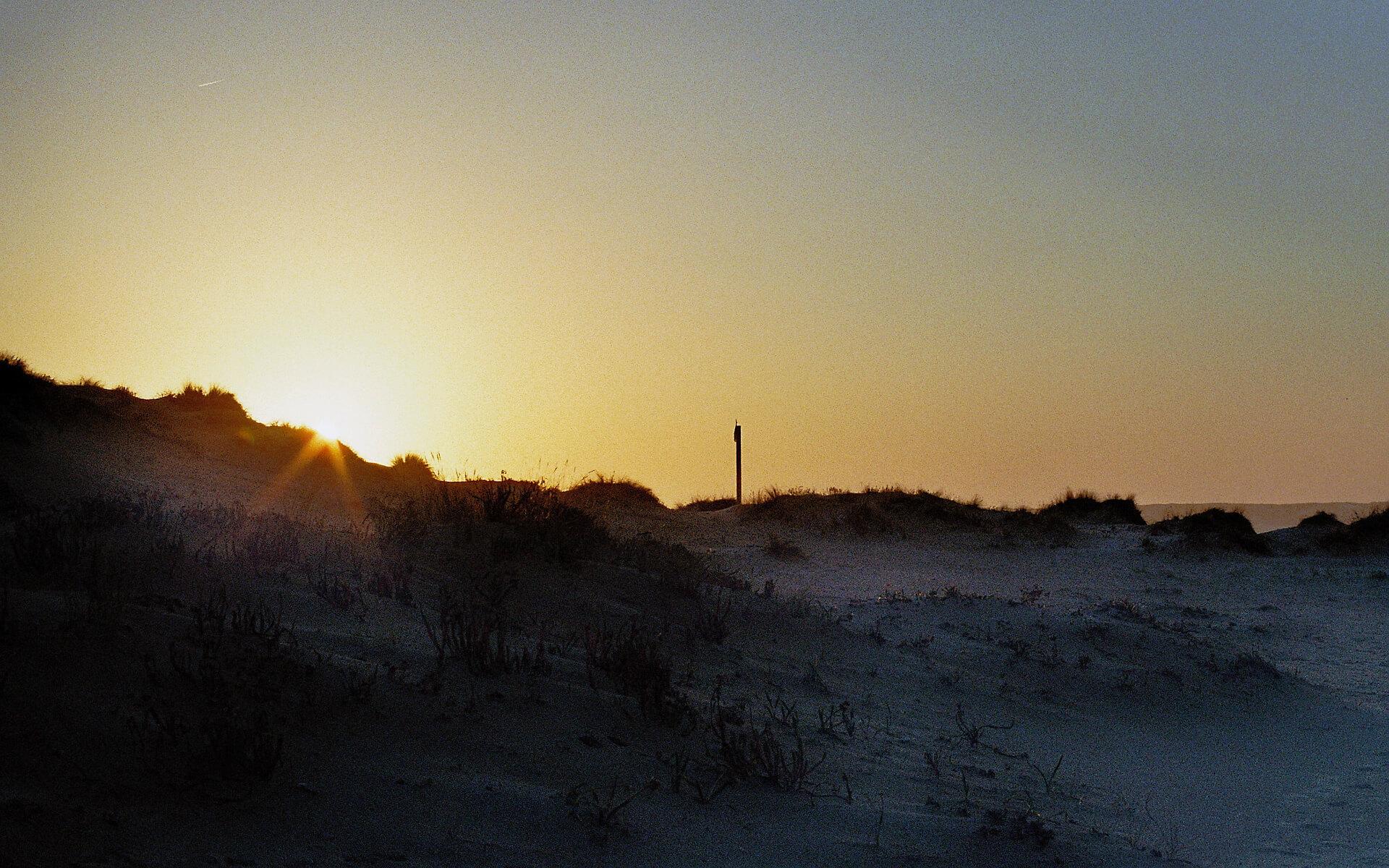 Sonnenuntergang Layback Intermediate Surfhouse Hausstrand Valdoviño