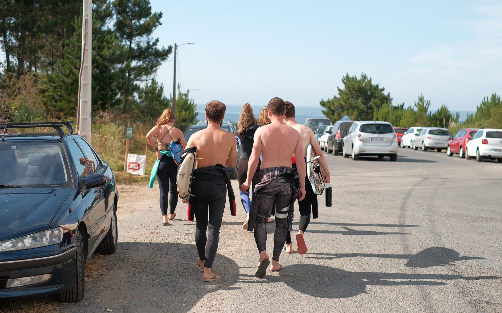 Weg zum Surf Spot